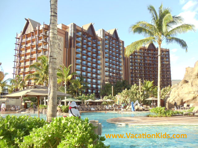 Enjoy the lush beautiful grounds and pools at Dreams Aulani Resort