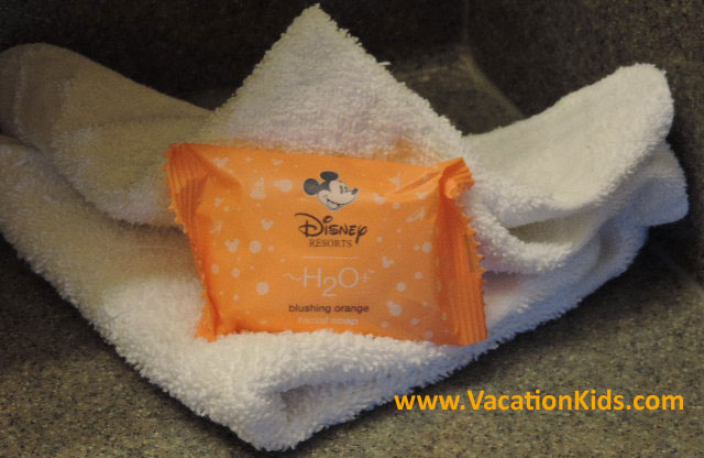 Bath Amenities offered to guests at Disney's Pop Century Resort.