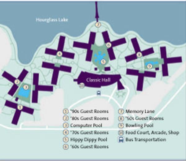 Map of Disney's Pop Century Resort complex