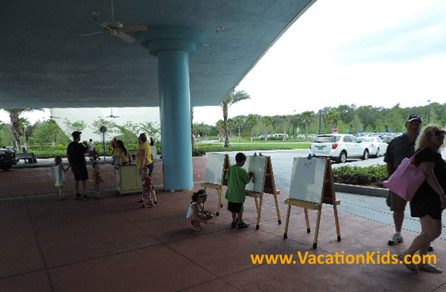 As guests arrive at Disney's Art Of Animation Resort children are welcomed with easels so they can create their own animation masterpieces