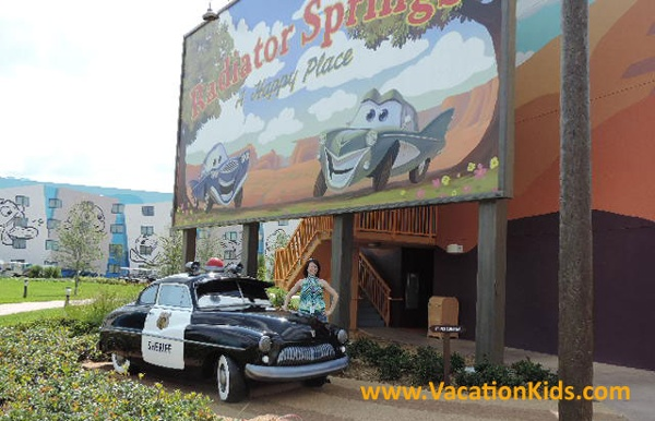 Be sure to give Sarge a salute on your way to your Cars Suite at Disney's Art Of Animation Resort