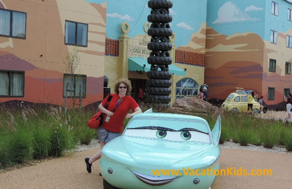 Flo and Vacationkids founder Sally Black welcome you to Disney's Art Of Animation Resort