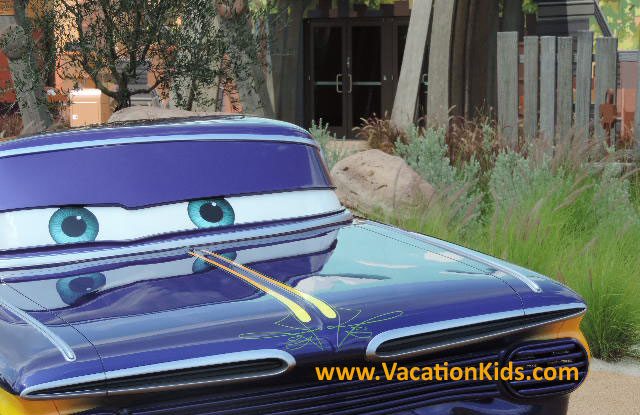 Be sure to stop and say hello to Low & Slow Ramone on the way to your Cars Suite at Disney's Art Of Animation Resort