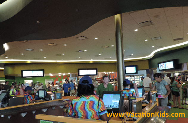 Guests at the Disney Art Of Animation can enjoy delicious quick service meals at the Landscape of Flavors Food Court