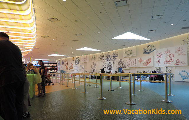 From the moment guests arrive at Disney's Art Of Animation you are surrounded with character sketches of beloved Disney characters