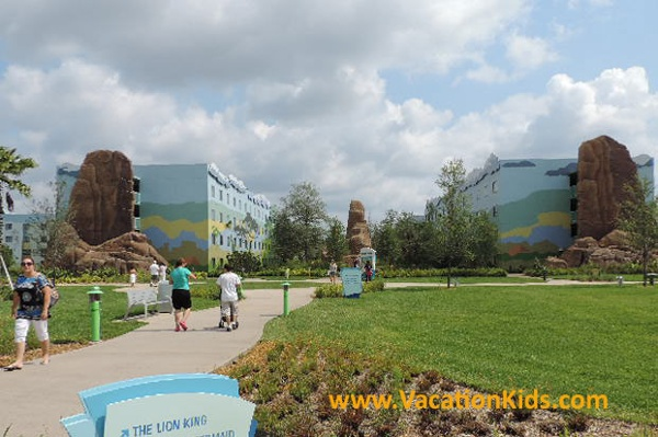 Follow the path to the Lion King Suites at Disney's Art Of Animation Resort