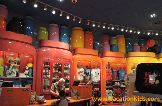 The Ink and Paint gift shop at Disney's ARt Of Animation Resort
