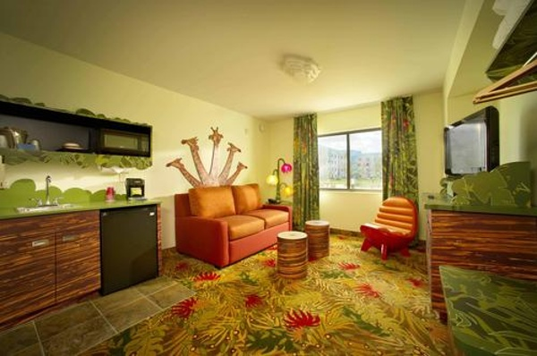 Feel like your Is waking up on the African Savannah by staying in one of the Lion King Suites at Disney's Art Of Animation