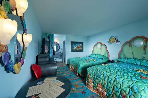 Check out the beautiful Little Mermaid rooms that will be a favorite of every Disney Princess at Disney Art Of Animation Resort