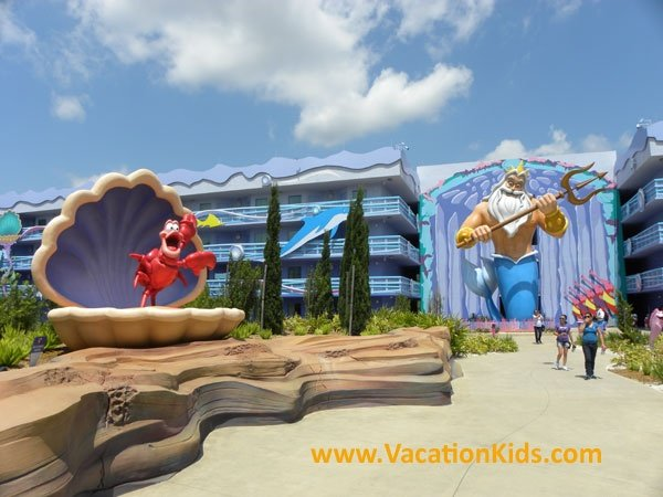 As soon as you and your kids arrive in the Little Mermaid Section of Disney's Art of animation Resort you will instantly become part of Arial's World.