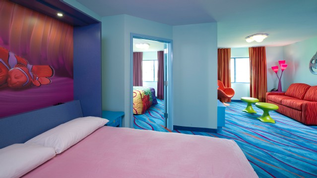 The Finding Nemo Rooms at Disney's Art Of Animation Resort are family suites that will sleep families of 6 plus 1 infant under 3