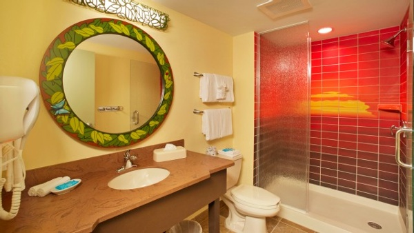 Art Of Animation Lion King family suites offer two full bathrooms for guests