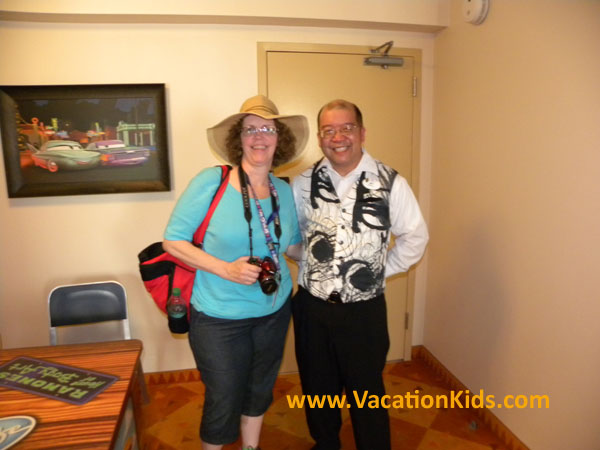 Vacationkids Sally Black and Cast member Arthur welcome you to Art of Animation Cars