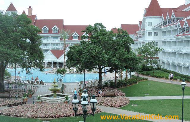 Pool views of Disney's Grand Floridian Resort