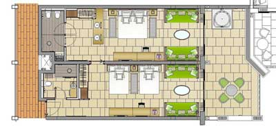 barcelofamflrplan resized 600  sc 1 st  Vacationkids & Family Vacations - Adjoining Rooms Connecting Rooms or Family Suites