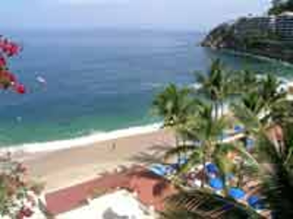 Secluded private beach at the Barcelo Puerto Vallarta