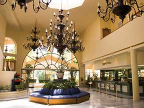 Guests are welcomed at the lobby of the Barcelo Puerto Vallarta