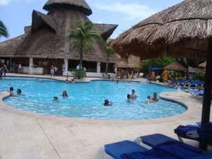 Shade or sun have your choice at the Sandos Playacar Beach Resort