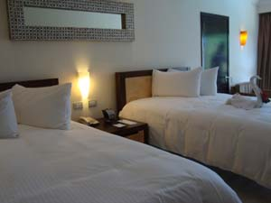 comfortable and sophisticated rooms await your family at the Sandos Playacar Beach Resort & spa