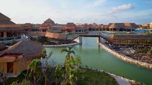 Grand Palladium Colonial lagoon and resort grounds