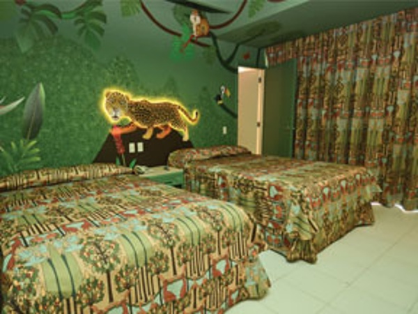 Kids themed family rooms at the Oasis Palm Cancun Resort