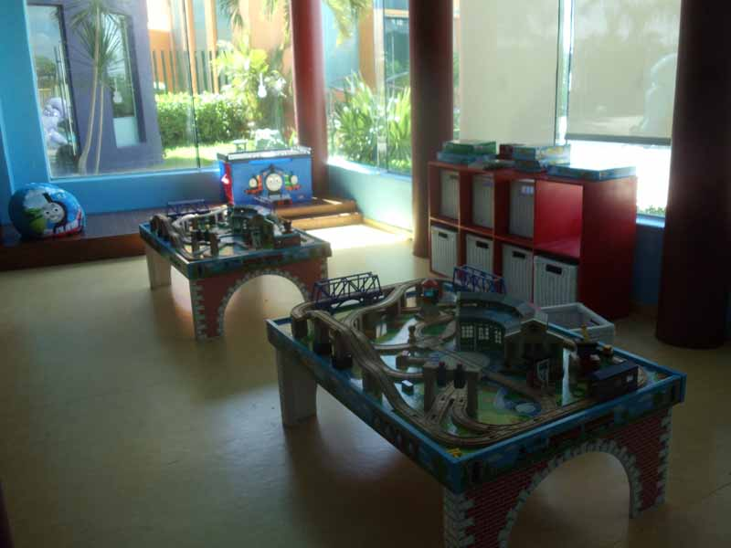 Thomas the Tank play area at Hard Rock Cancun Hotel kids club