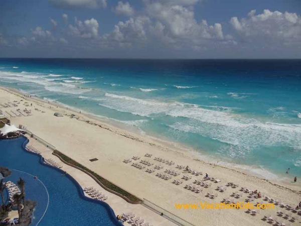 Beach area of Hard Rock Canun Hotel