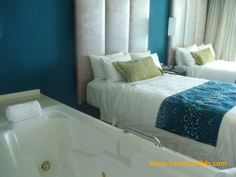 Standard room with Jacuzzi at the Hard Rock Cancun Hotel all inclusive family resort
