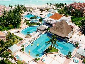 Omni Cancun Hotel and Villas pool view