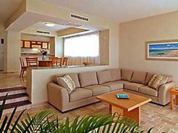Living room at the Omni Cancun Villas