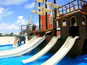 Treasure Island Water park at the Great Parnassus Resort & spa all inclusive family resort
