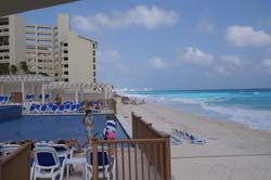 View of Cancun Beach from the Great Parnassus Resort & spa