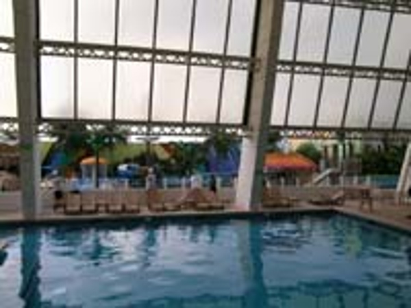 View of the Indoor pool at the Crown Paradise Hotel in Cancun