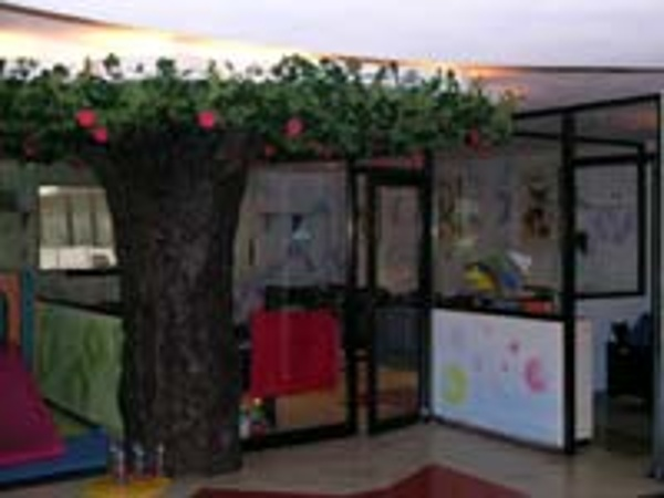 Security check in desk for Parents at the Crown Paradise Hotel Baby club for infants and toddlers ages 18 months to 3 years