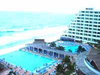 View from rooms at the Crown Paradise Hotel Cancun