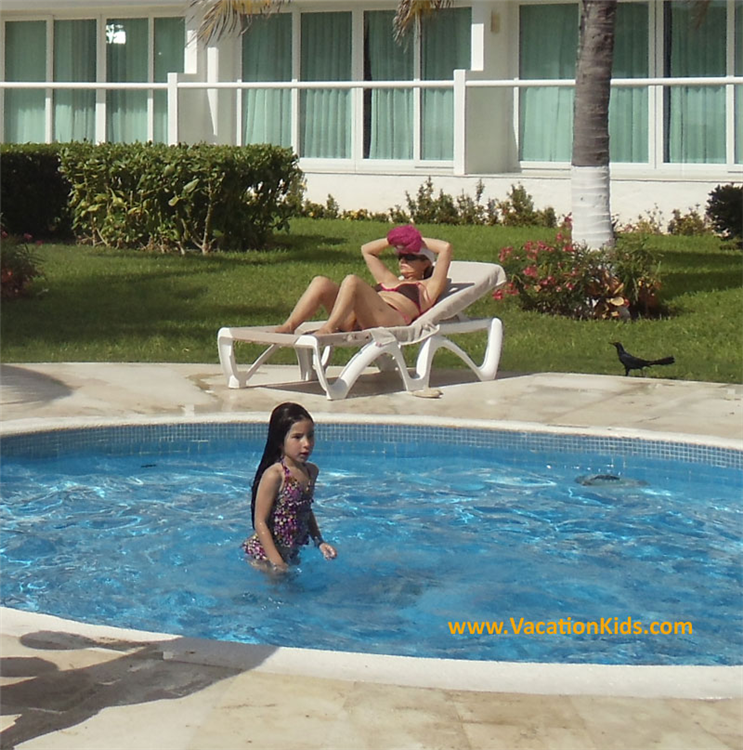 The Krystal Hotel Cancun offers kids a separate shallow kids pool