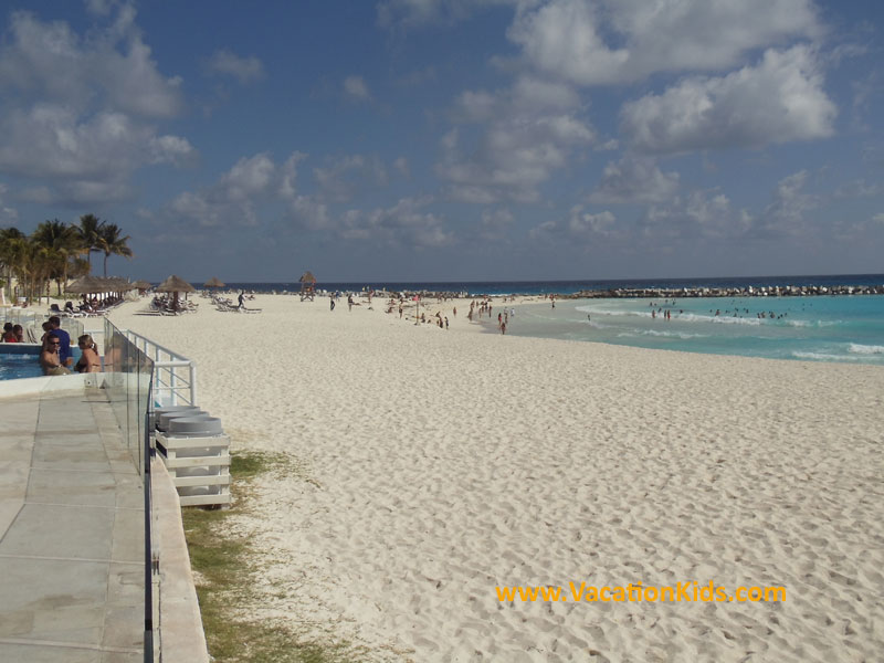 Beautiful white sands and crystal blue seas await your family at the Krystal Hotel Cancun