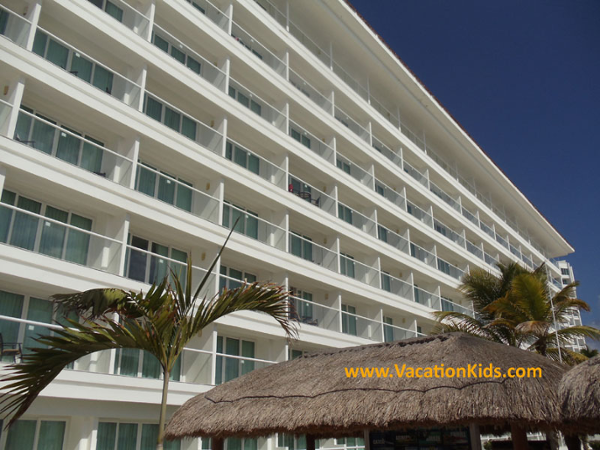 View of the new balconies as part of the guest room upgrades at the Krystal Hotel Cancun