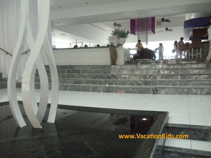 Main lobby greeting guests at the Krystal Hotel Cancun