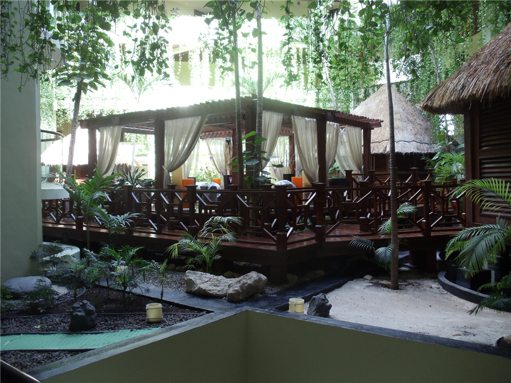 Balinese style spa at the Paradisus Cancun all inclusive resort