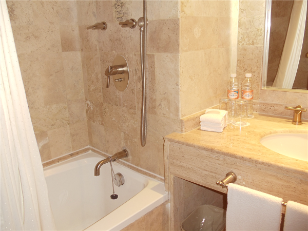 Marble baths at the Paradisus Cancun all inclusive resort