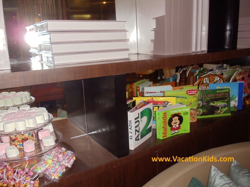 Games, books and activities to entice the kids while parents check in at the Paradisus Cancun