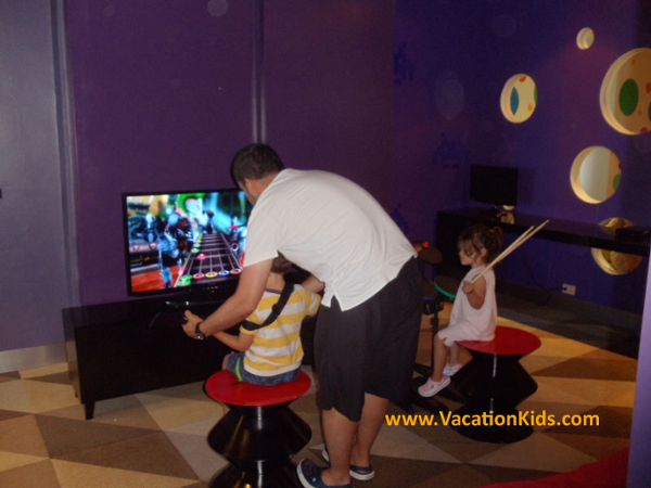 Family concierge lounge at the Paradisus Cancun