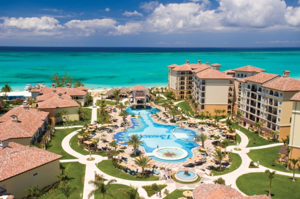 View of the Italian villiage and pool at Beaches Turks & Caicos