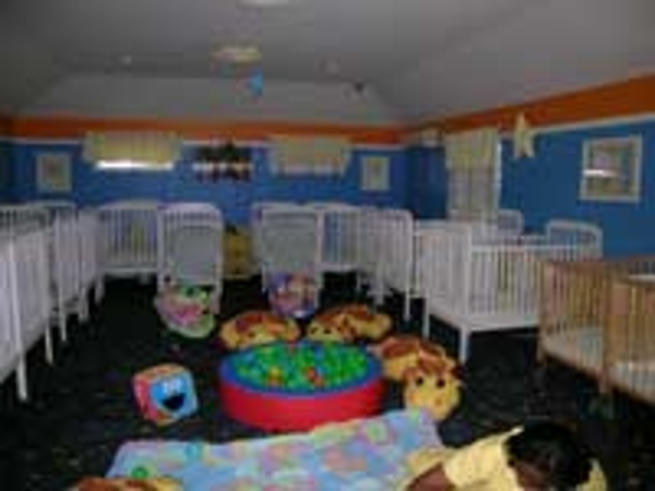 Nap time area at the baby club at Beaches Turks & Caicos
