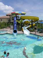 Straight or curly slide at Beaches Turks & Caicos waterpark