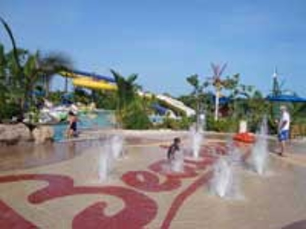 Fun splash zone at the Pirates waterpark at Beaches Turks & Caicos