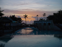 Sunset brings a close to a busy day and the start of fun filled nights at Beaches Negril