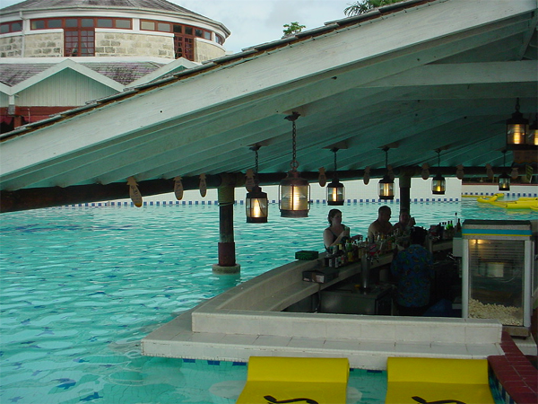 Swim up bar at Beaches Negril