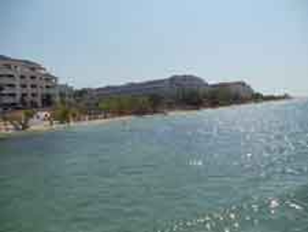Water view from the dock of Iberostar Rose Hall Beach All Inclusive Family Resort in Jamaica
